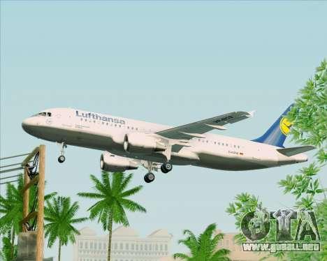 Airbus A320-211 Lufthansa para visión interna GTA San Andreas