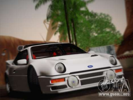Ford RS200 Evolution 1985 para GTA San Andreas vista hacia atrás