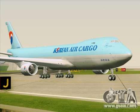 Boeing 747-8 Cargo Korean Air Cargo para GTA San Andreas left