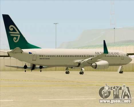Boeing 737-800 Air New Zealand para vista lateral GTA San Andreas