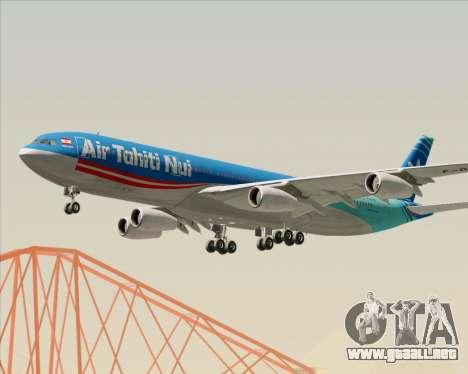 Airbus A340-313 Air Tahiti Nui para vista lateral GTA San Andreas
