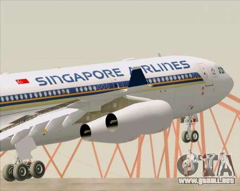 Airbus A340-313 Singapore Airlines para las ruedas de GTA San Andreas