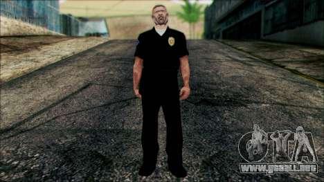 El oficial Carver de Escena para GTA San Andreas
