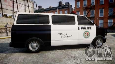 Declasse Burrito Police para GTA 4 left