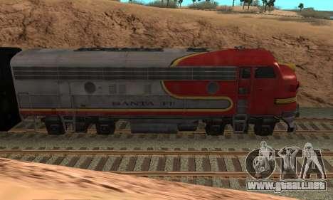 Santa Fe Superchief F7A para GTA San Andreas left