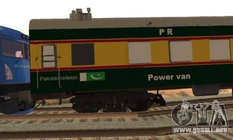 Pakistan Railways Train para GTA San Andreas vista hacia atrás