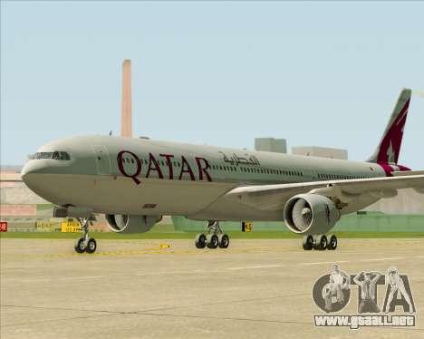 Airbus A330-300 Qatar Airways para GTA San Andreas vista posterior izquierda