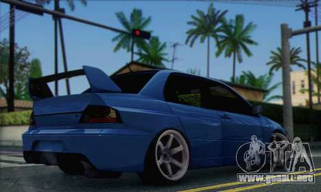 Mitsubishi Lancer Evolution IIX para GTA San Andreas left