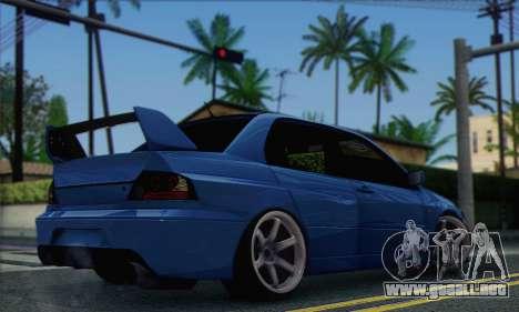 Mitsubishi Lancer Evolution IIX para GTA San Andreas left