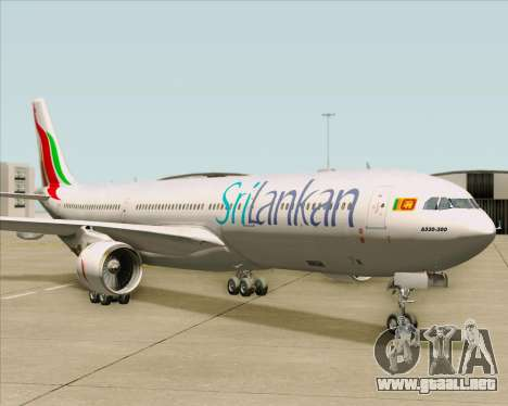 Airbus A330-300 SriLankan Airlines para GTA San Andreas left