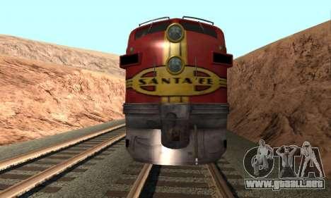 Santa Fe Superchief F7A para la visión correcta GTA San Andreas