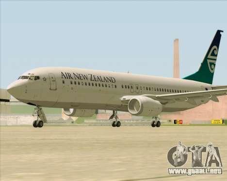 Boeing 737-800 Air New Zealand para GTA San Andreas vista hacia atrás