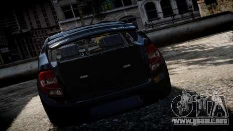 Lada Granta para GTA 4 vista hacia atrás