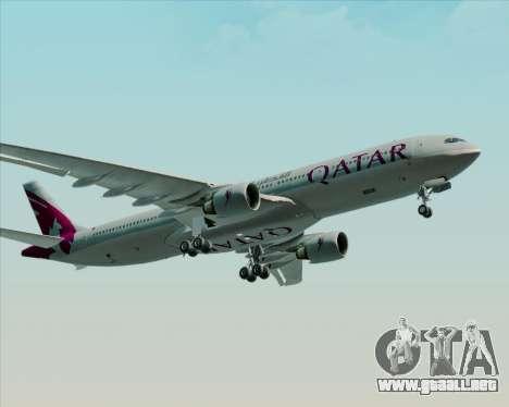 Airbus A330-300 Qatar Airways para GTA San Andreas vista hacia atrás
