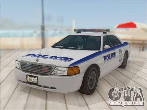 Admiral Police para GTA San Andreas vista hacia atrás