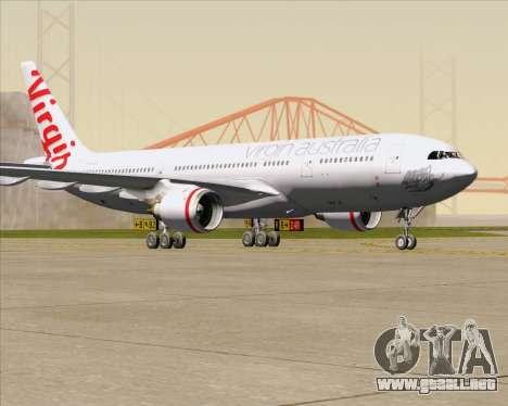 Airbus A330-200 Virgin Australia para GTA San Andreas left