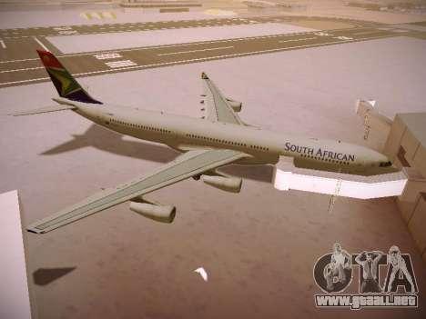 Airbus A340-300 South African Airways para vista inferior GTA San Andreas