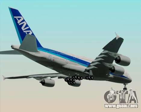 Airbus A380-800 All Nippon Airways (ANA) para visión interna GTA San Andreas