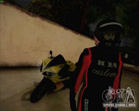 Yamaha R1 HBS Style para GTA San Andreas left