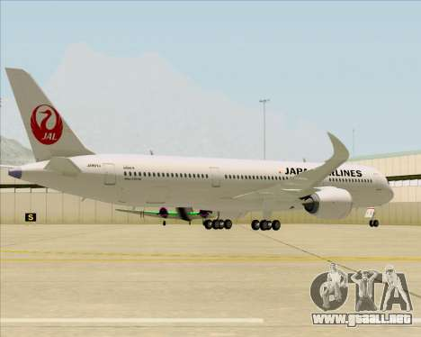Airbus A350-941 Japan Airlines para GTA San Andreas vista hacia atrás