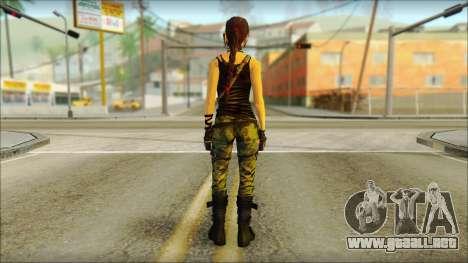 Tomb Raider Skin 4 2013 para GTA San Andreas segunda pantalla