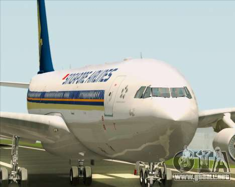 Airbus A340-313 Singapore Airlines para el motor de GTA San Andreas