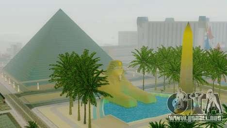 Nuevas texturas de la pirámide en Las Venturas para GTA San Andreas sucesivamente de pantalla