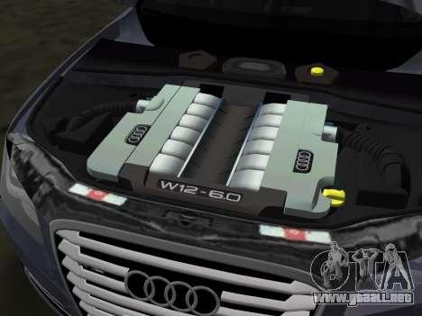Audi A8 2010 W12 Rim1 para GTA Vice City vista desde abajo