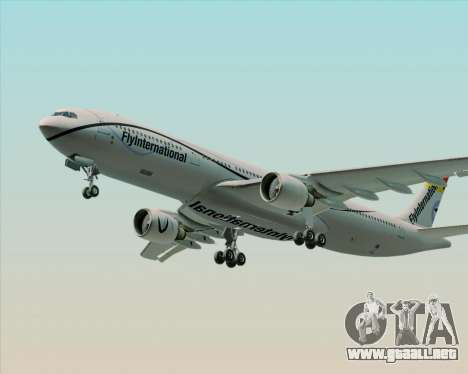 Airbus A330-300 Fly International para vista inferior GTA San Andreas