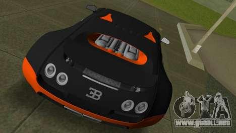 Bugatti Veyron Super Sport para GTA Vice City visión correcta