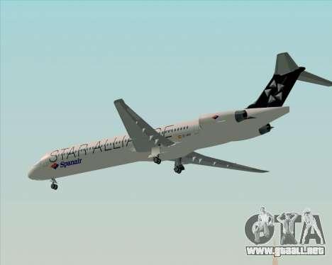 McDonnell Douglas MD-82 Spanair para la vista superior GTA San Andreas