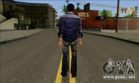 Lee from Walking Dead para GTA San Andreas segunda pantalla