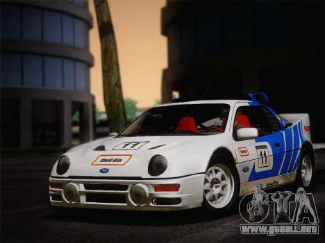 Ford RS200 Evolution 1985 para GTA San Andreas left
