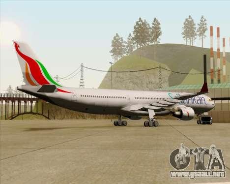Airbus A330-300 SriLankan Airlines para GTA San Andreas vista hacia atrás