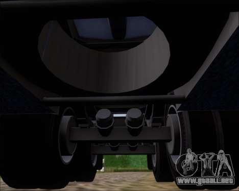 Remolque tanque Carro Copec para vista inferior GTA San Andreas