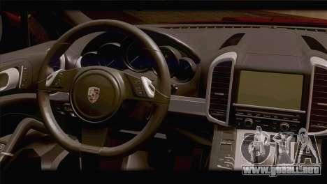 Porsche Cayenne para GTA San Andreas vista posterior izquierda