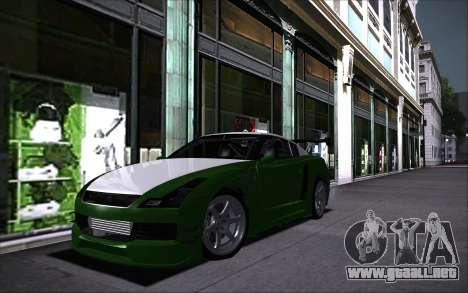 Elegy RH8 Tunable v1 para GTA San Andreas vista hacia atrás