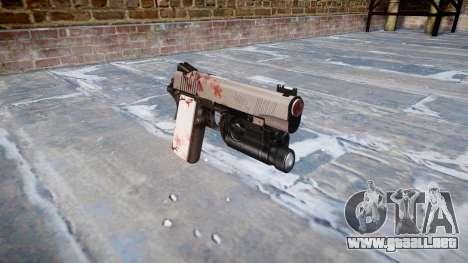 Pistola de Kimber 1911 flor de Cerezo para GTA 4