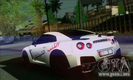 Nissan GT-R Muhammad Ali para GTA San Andreas left