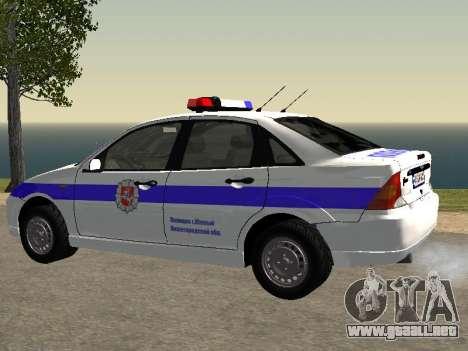 Ford Focus de Policía de la región de Nizhny Nov para GTA San Andreas left