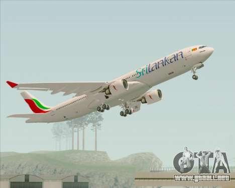Airbus A330-300 SriLankan Airlines para vista inferior GTA San Andreas