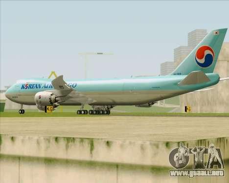 Boeing 747-8 Cargo Korean Air Cargo para la visión correcta GTA San Andreas