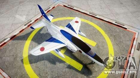 Kawasaki T-4 para GTA 4 visión correcta