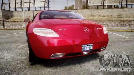 Mercedes-Benz SLS AMG [EPM] para GTA 4 Vista posterior izquierda
