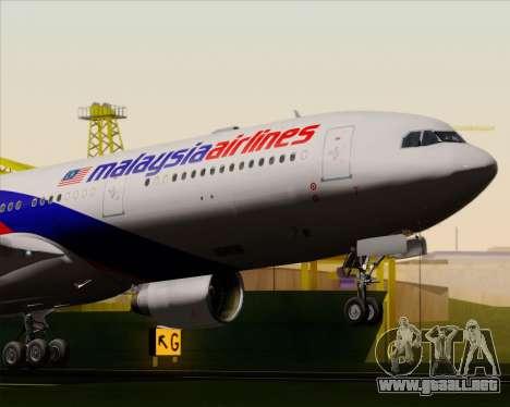 Airbus A330-323 Malaysia Airlines para vista lateral GTA San Andreas