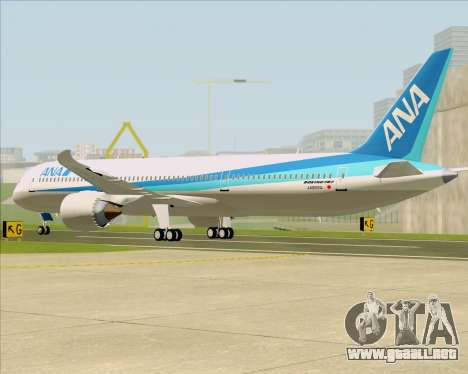 Boeing 787-9 All Nippon Airways para la visión correcta GTA San Andreas