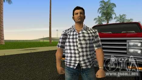 Kockas polo - feher T-Shirt para GTA Vice City segunda pantalla