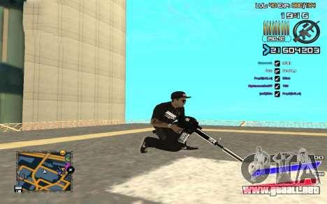 C-HUD by Radion edited SampHack para GTA San Andreas tercera pantalla