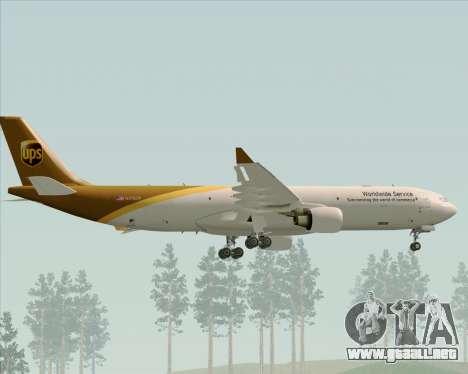 Airbus A330-300P2F UPS Airlines para las ruedas de GTA San Andreas