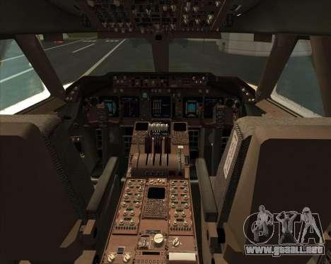 Boeing 747-830 Lufthansa - Fanhansa para GTA San Andreas interior